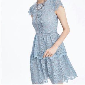 Banana Republic Short Sleeve Lace Dress Size 10